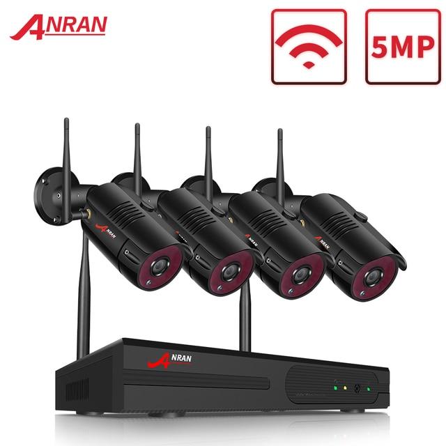 ANRAN 1920P Kit de caméra de sécurité sans fil 5MP NVR système de Vision nocturne en plein air Wifi système de caméra de Surveillance cctv Kit vidéo