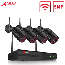ANRAN 1920P Wireless Security Camera Kit 5MP NVR System Night Vision Outdoor Wifi Surveillance Camera System cctv Video Kit