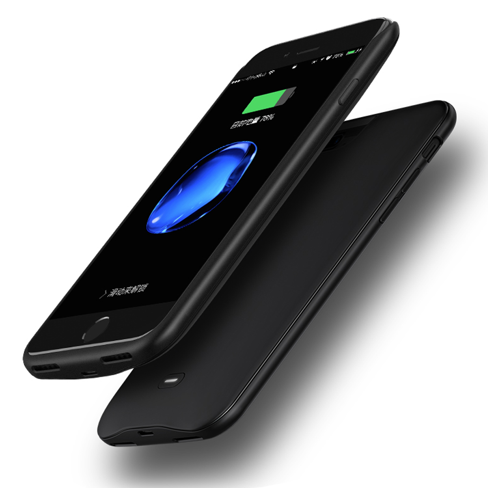 7200mAh Portable Power Bank Backup Pack Magnetic External Battery Charger Case protective Cover For iPhone 7Plus 8Plus 5.5inch Battery Charger Cases     - title=