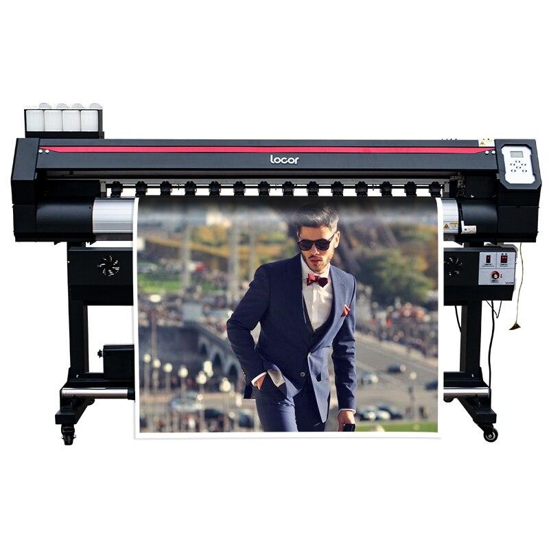 Imprimante de panneau d'affichage publicitaire cmyk impression numérique couleur autocollant machine d'impression 5 pieds double xp600 tête imprimante grand format