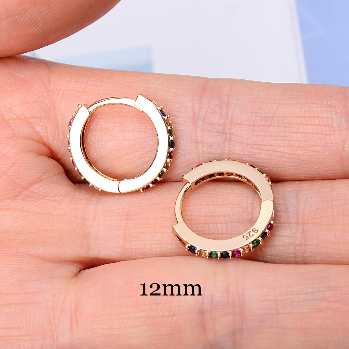1 Piece Small Girls Hoop Earrings Tiny Ear Rings Cartilage Huggies Piercing Hoop Studs Conch Earlobe Tragus Circle Women Hoops