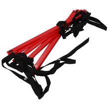 10 Feet Agility Speed ladder Soccer Training Quick 7 Flat Rung Ladder-Red