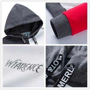 Image 5 - SingleRoad Mens Fashion Hoodies Men 2020 Winter Hip Hop Japanese Streetwear Harajuku Colorblock Patchwork Sweatshirt Hoodie Men