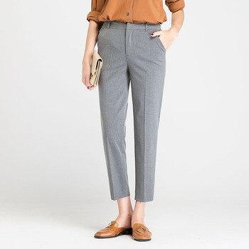 Herbst Winter Middl Im Alter Von Frauen Warme Samt Elastische Taille Beiläufige Gerade Hosen Weibliche Hose Plus Größe Kleidung