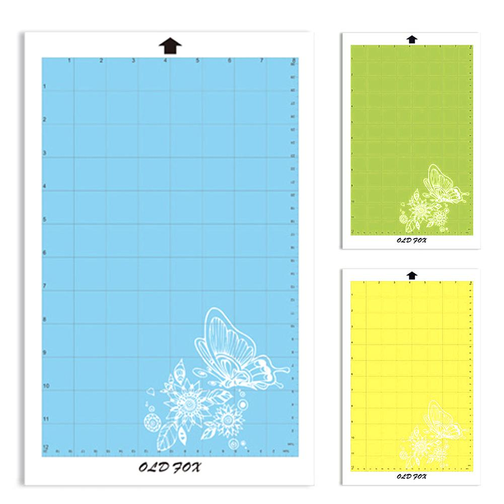 New Replacement Cutting Mat Transparent Adhesive Mat Pad With Measuring Grid 8 By 12-Inch For Silhouette Cameo Plotter Machine