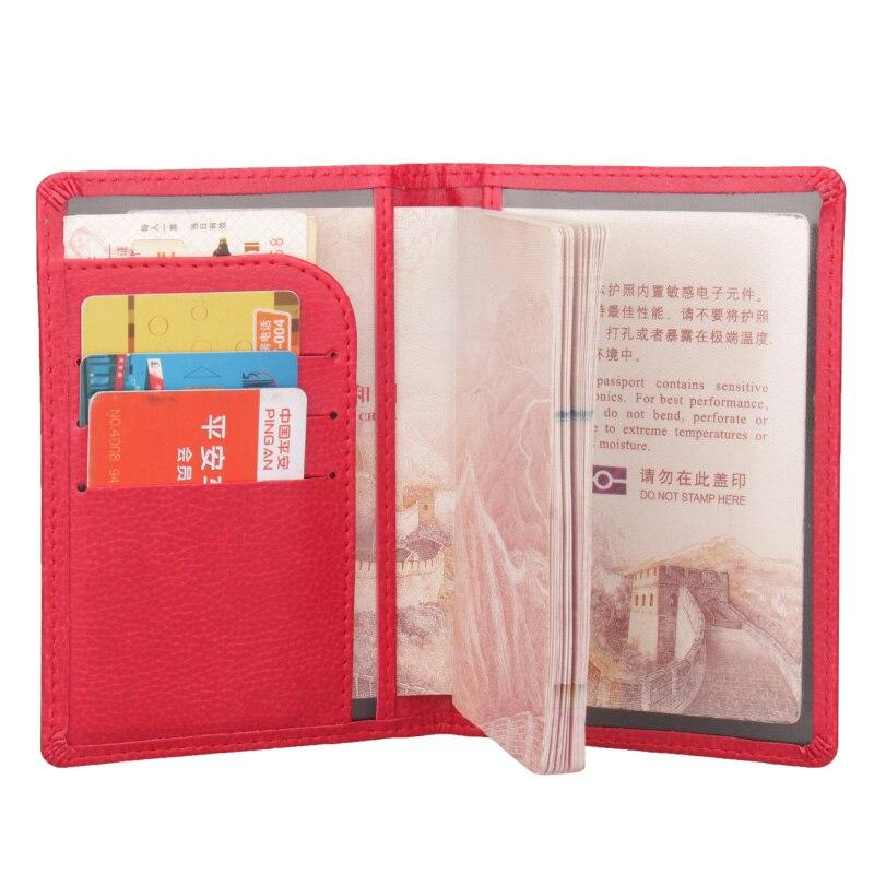 Zongshu PU Leather Passport Holder  Multi Function Passport Case Multifunctional Travel Clip Flights Clip (custom Available)