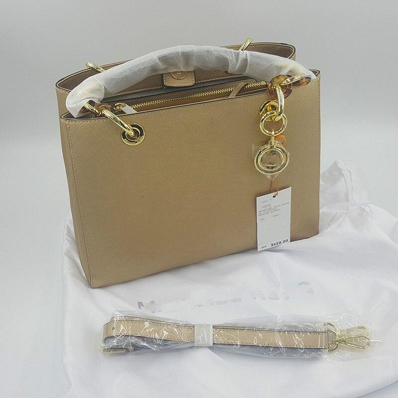 Sac à main en cuir véritable de haute qualité sacs à main de luxe femmes sacs à bandoulière Designer femmes chaîne acrylique livraison directe gratuite or