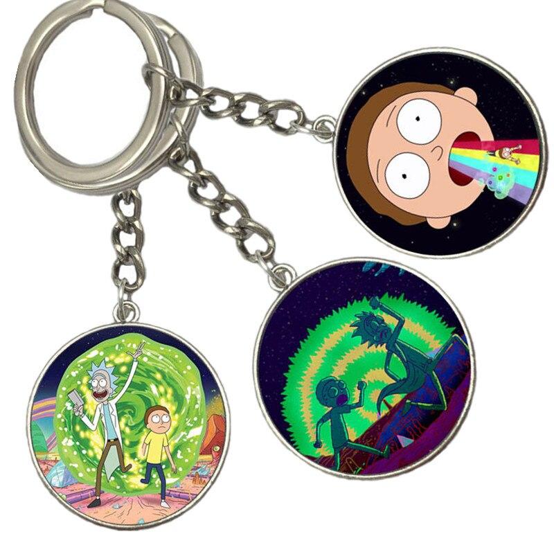 Rick /& Morty Lanyard /& Keyring Key Chain Ring Set