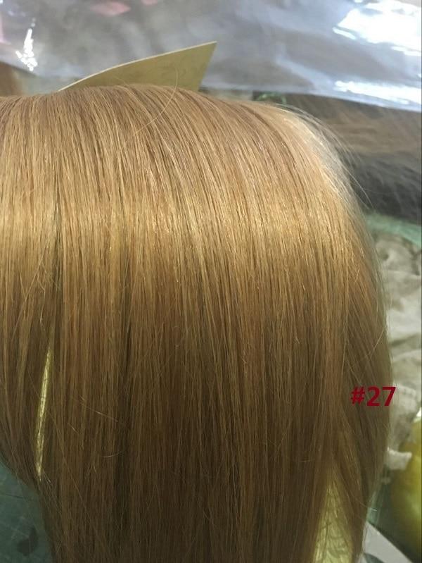 Chocola, бразильские волосы remy на всю голову, 10 шт. в наборе, 280 г, 16-28 дюймов, натуральные прямые человеческие волосы для наращивания на заколках - Цвет: #27