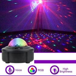 90 wzorów LED etap światła dyskotekowe RGB MINI DJ projektor laserowy światło stroboskopowe aktywowane dźwiękiem Party światła kulkowe na boże narodzenie KTV w Oświetlenie sceniczne od Lampy i oświetlenie na
