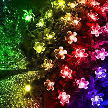 20/50LED Solar Power Cherry Blossom String Light Yard Fairy Decorative Lamp 1