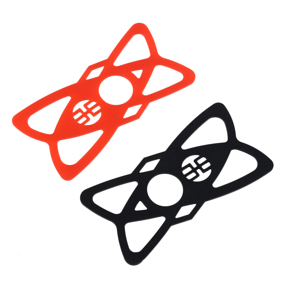 4 Pcs Replacement Rubber/Silicone Bands For Bike Motorcycle Handlebar Roll Bar Mount For Smartphones Black + Red