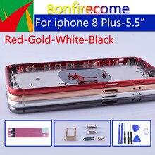 """5.5 """"Orijinal kalite iphone 8 Artı 8 P Arka konut Orta Çerçeve Şasi Pil arka kapak Kapı Için iphone 8 Artı"""