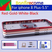 """5.5 """"qualité dorigine pour iphone 8 Plus 8 P boîtier arrière cadre moyen châssis batterie couverture arrière porte pour iphone 8 Plus"""