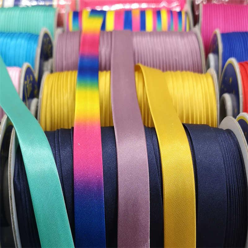 5 ヤード 15 ミリメートル縫製サテンリボンエッジ縫製リボン衣料用シーツ枕帽子さまざまな生地エッジ縫製