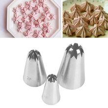 3 шт./компл. из нержавеющей стали для глазировка торта наконечники формочка для десерта формы цветка выпечки Кондитерские инструменты для украшения