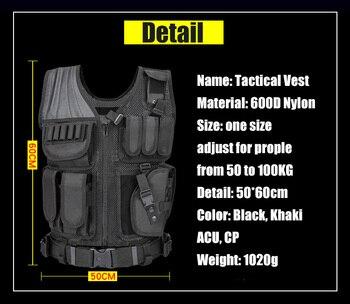 Modelo 045 Hombres Chaleco Táctico Militar Paintball Camuflaje Molle Caza Chaleco De Asalto Tiro De Caza Placa De Transporte Con Funda