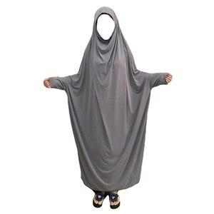 Image 2 - Ramadan muzułmanin Burqa Abaya kobiety hidżab modlitwa sukienka Islam napowietrznych Burka Niqab długi Khimar Kaftan szata arabski bliski wschód odzież
