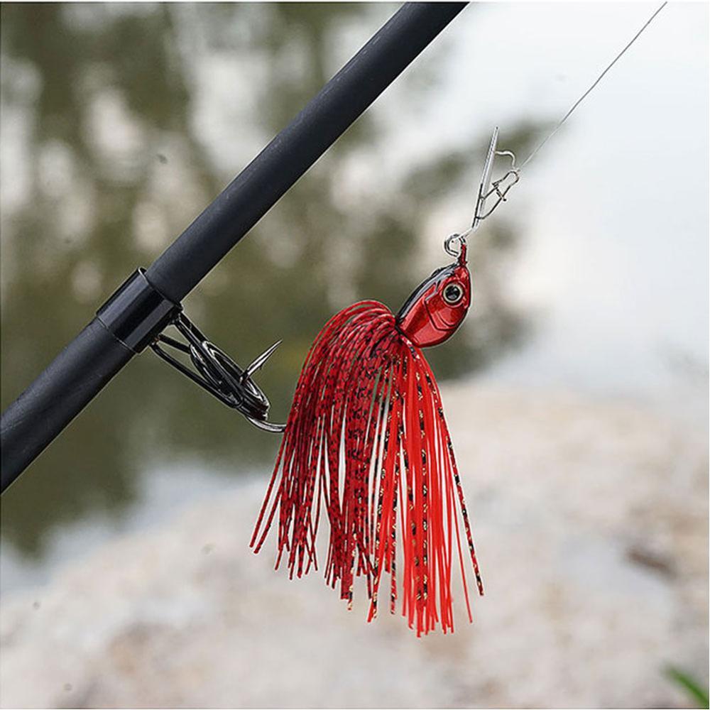 Original Micro Chatterbait 14g Chatter Bait Fishing Lure  Pike Bass Fishing Lure Buzz Bait Buzzbait-3