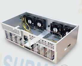 Free Shipping, ETH Miner Plug-in Platform Built-in IC847 MAX Motherboard Thickened Electrolytic Board Chassis 8 Graphics Card 1