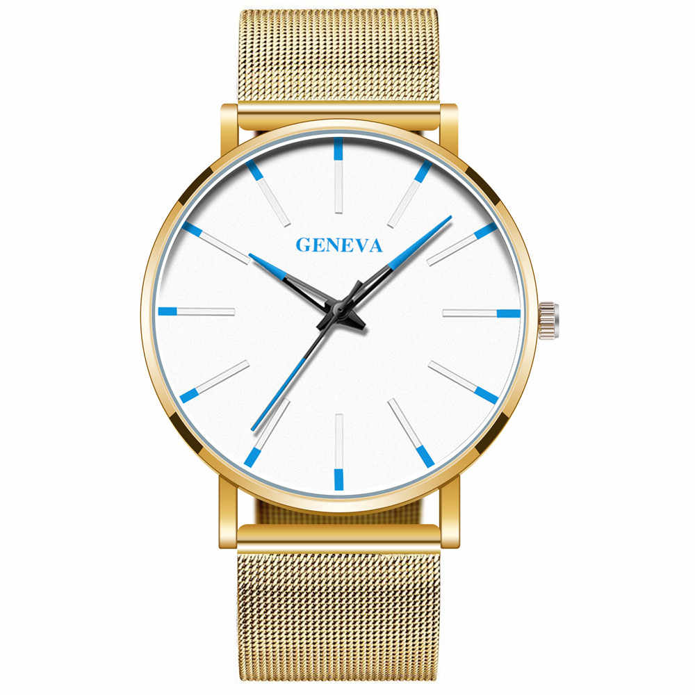 Luxuryนาฬิกาผู้ชายสุทธิสีPointerสีสันนาฬิกาข้อมือควอตซ์MensสีทึบสบายๆนาฬิกาReloj hombre