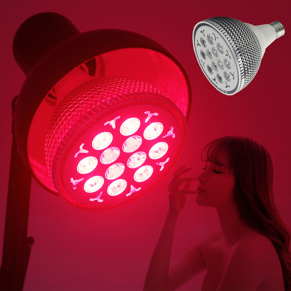 Led Light Therapy Skin Rejuvenation Device E27 660nm 850nm Handheld Red Infrared Light Anti Aging 24W Red Light Therapy Bulb