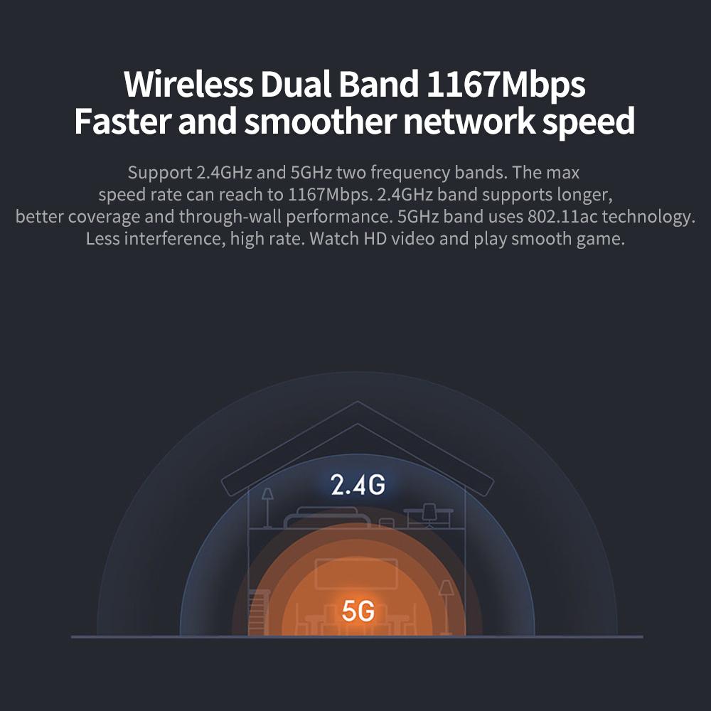 Xiaomi Mi Router 4A Gigabit Edition 2.4GHz 5GHz WiFi 16MB ROM 64MB DDR3 High Gain 4 Antennas Remote APP Control Support IPv6 (1)
