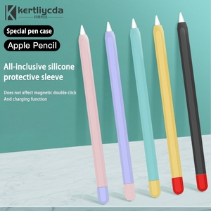 Mélange de couleurs pour Apple crayon 1 / 2 étui en Silicone souple pour iPad tablette tactile stylet housse de protection crayon en Silicone
