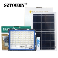SZYOUMY 100W 180W 220W 300W Solar Flood Lights Outdoor Garden Security Lamp Lights Remote Light Control