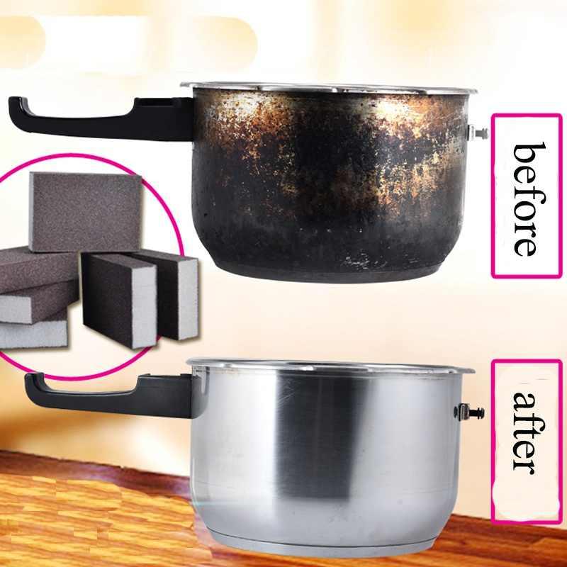 1/5pcs 100*70*25mm Spons Tovergummetje voor Verwijderen Roest Reiniging Katoen Keuken Gadgets accessoires Magic Spons 5Z