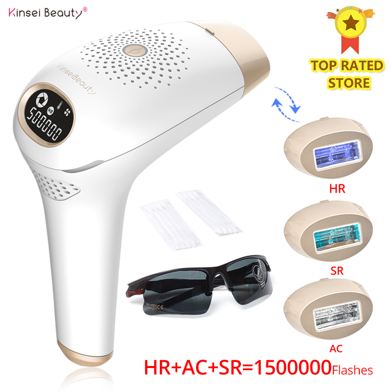 Kinseibeauty IPL Hair Removal Laser Hair Removal Machine Device Permanent Electric Depilador Acne Clearance Skin Rejuvenation