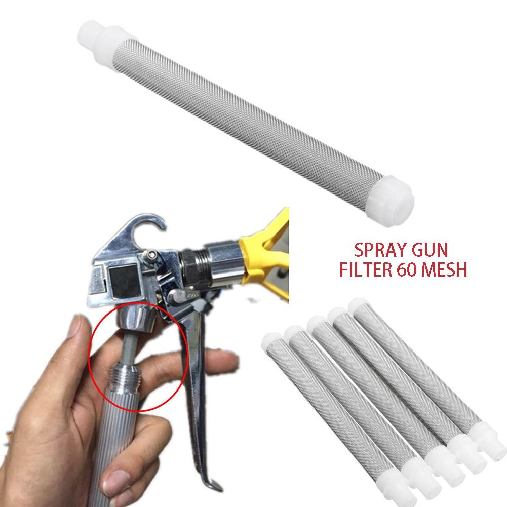 5pcs Airless Spray Gun Filters Mesh Airless Paint Sprayer Parts 60 Mesh Paint Sprayer Machine Accessories