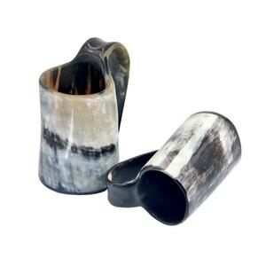 Image 2 - 100% ручная работа Бык Рог кружка виски выстрел стаканы вино рог для напитков кружки викингов питьевые кружки