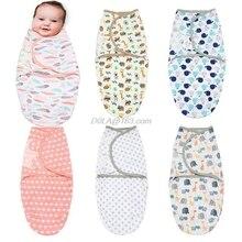 Newborn Baby Swaddle Blanket Soft Warm Wrap Spring Summer Sleepsack Infant Sleeping Bag for 0-2 Month Boys Girls