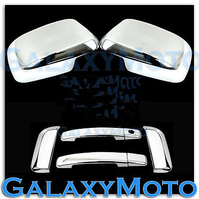 Triple Chrome plated 4 Door Handle w//o PSG KH Cover for 05-12 Nissan PATHFINDER