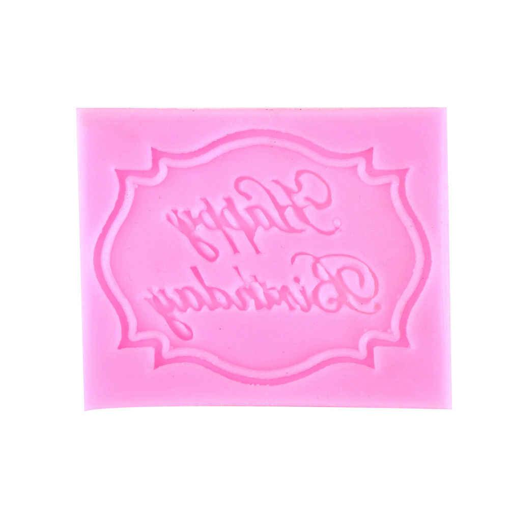 1 pieza de molde para pasteles de silicona, utensilios para hornear chocolate, fondant, herramientas para decoración de pasteles 6,8*5,5*0,5 cm
