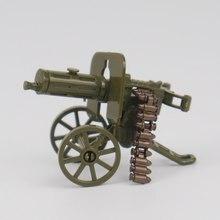 أطقم جندي العسكرية لعبة مجسمة للأطفال ألعاب مكعبات البناء والهوايات WW2 أطفال رشاشات الأسلحة العسكرية الجيش