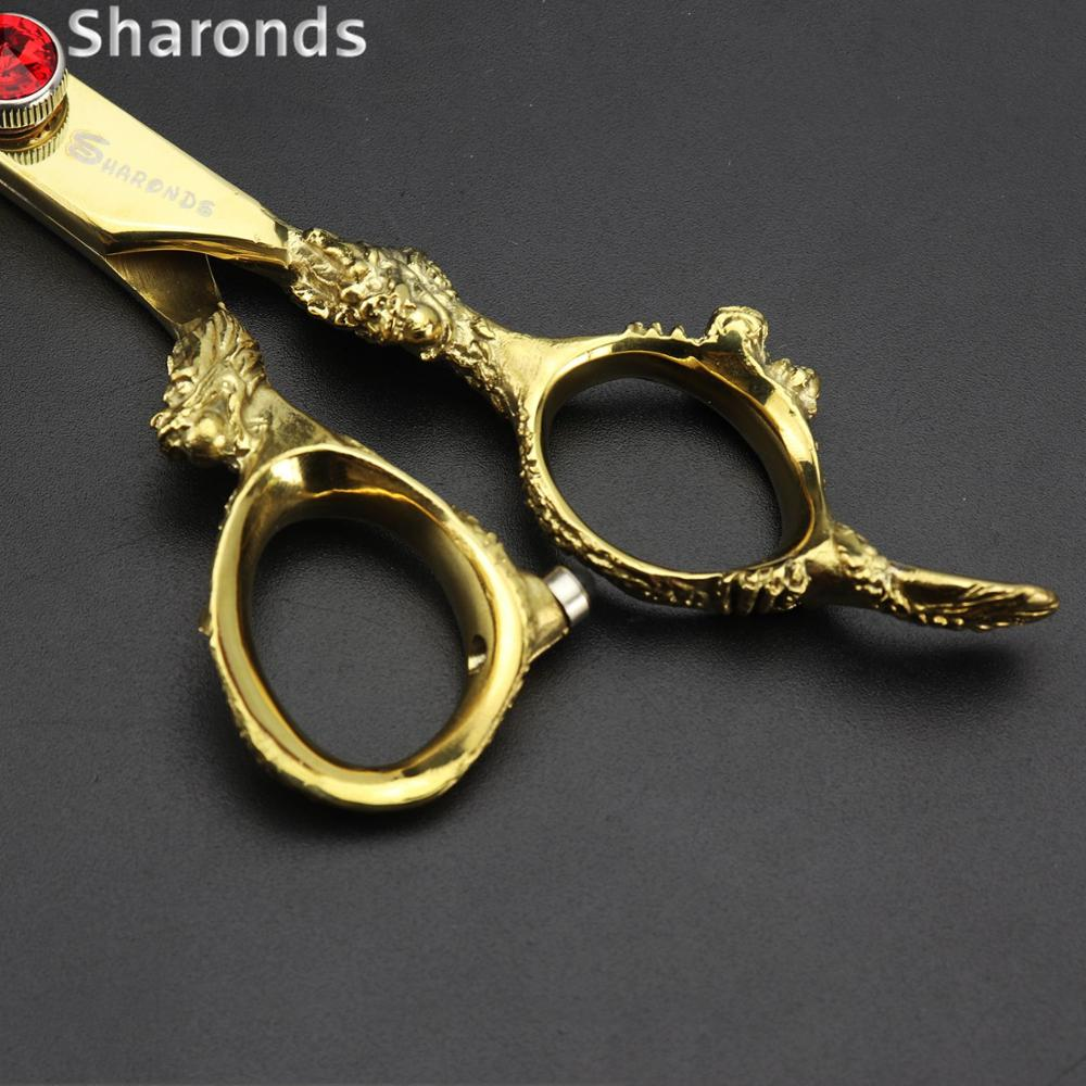 Купить с кэшбэком Golden Japan 440c imported Professional hairdressing scissors 5.5&6&7 inch barber scissor hair stylist dedicated hair scissors