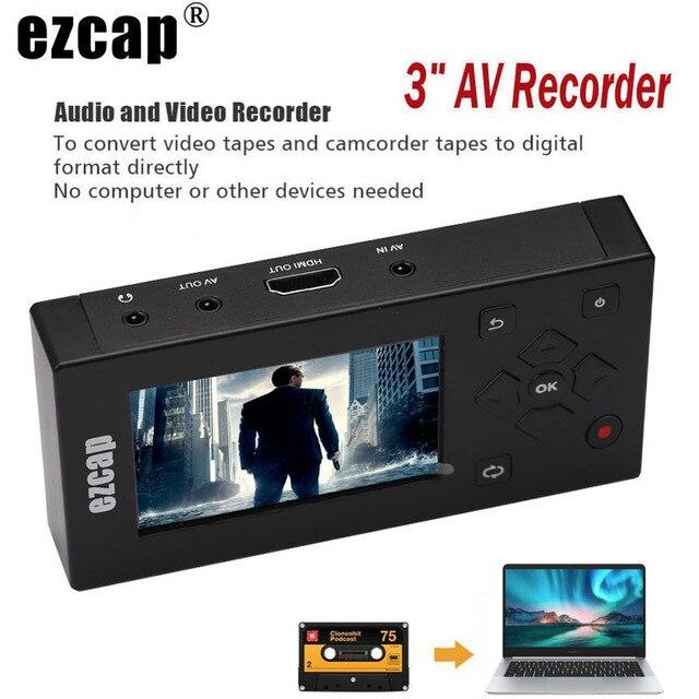 CVBS الصوت والفيديو التقاط صندوق محول AV مسجل VHS VCR DVD DVR Hi8 لعبة لاعب كاسيت الشريط كاميرا الفيديو إلى MP3 MP4 HDMI HD TV