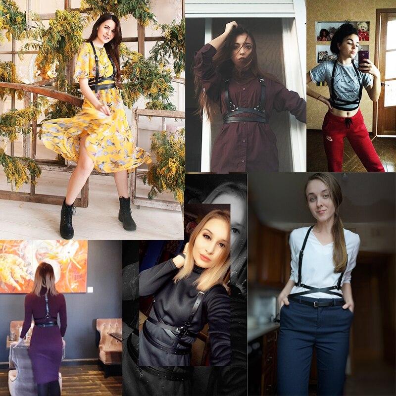 UYEE Trendy Leather Harness Sexy Lingerie Belt Adjustable Leather Garter Women Straps For Female Erotic Waist Body Suspenders 3