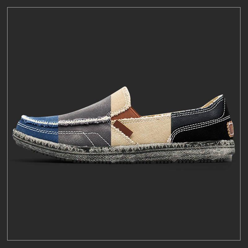 Damyuan 2020 New Fashion Men Non-Leather Casual Shoes Big Size 46 Slip-on Canvas Cowboy Footwear