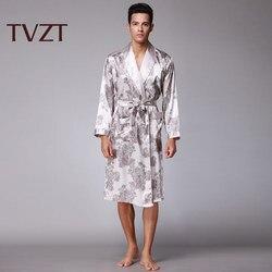 Tvzt 2020 new pajamas men domineering home service pajamas men pajamas set pattern printing wide sleeve comfortable pajamas