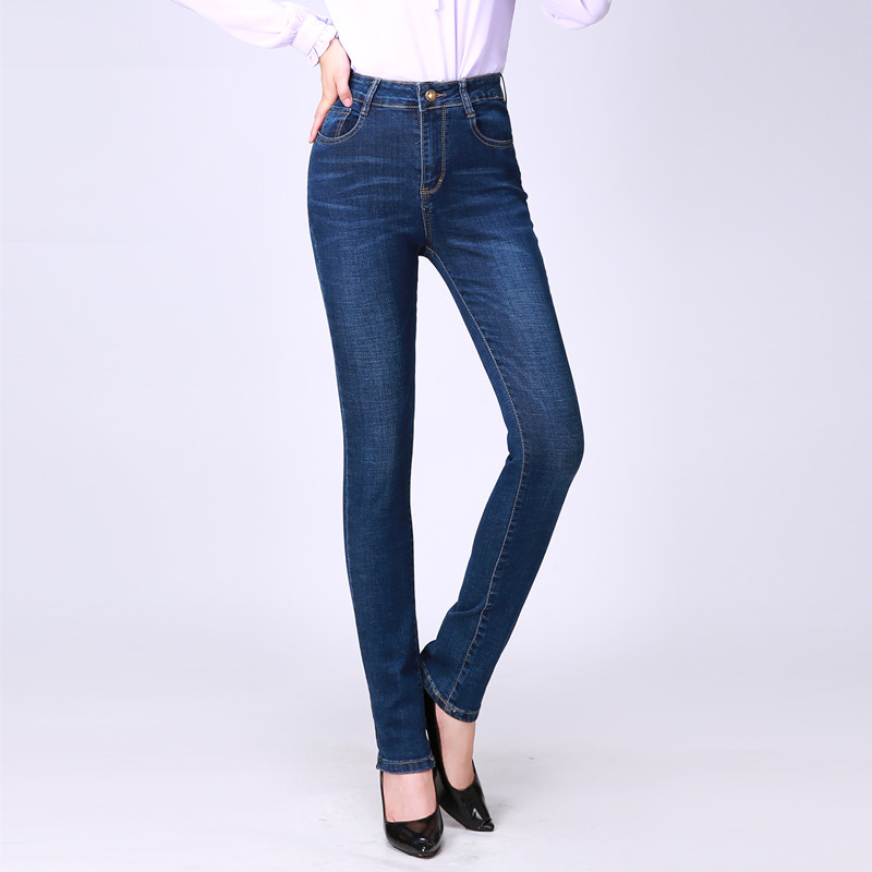 2019 WOMEN'S Dress Spring And Autumn New Style WOMEN'S Stretch Jeans Korean-style Skinny Trousers Women's High-waisted Slimming