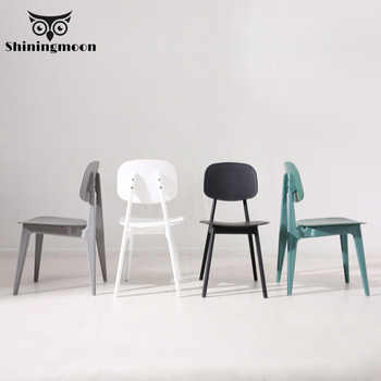 Macaroon Plastic Minimalism Modern Louis Dining Room Chairs White Black Single Chair Restaurant Home Furniture Comfortable Chair - DISCOUNT ITEM  20% OFF All Category