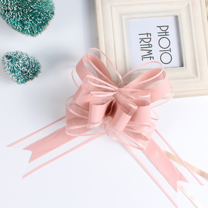 >20PCS <font><b>Decor</b></font> <font><b>Gift</b></font> Hand Drawn Flowers Decoration Wedding Car <font><b>Gift</b></font> Packing Pull Bow Ribbons Plastic Flores Party DIY Festive Suppy