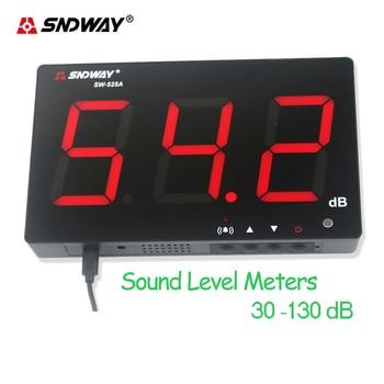 Sndway Mini Sound Level Meters Decibel Meter Logger Noise Audio Detector Digital Diagnostic-tool SW-525A  Automotive Microphone