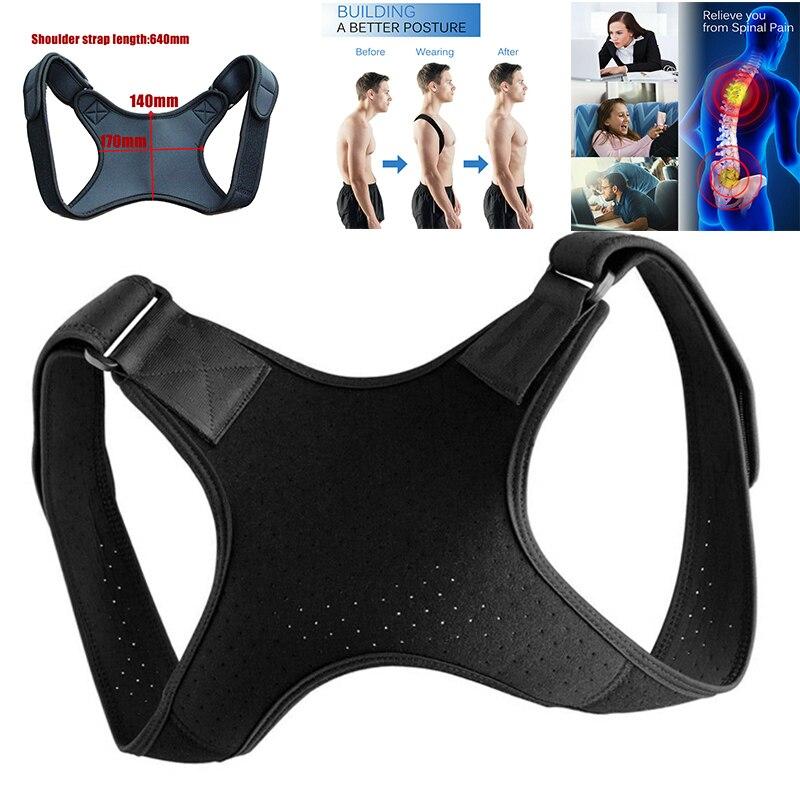 Adjustable Medical Unisex Back Posture Corrector Clavicle Spine Back Shoulder Lumbar Brace Support Belt Posture Correction Tool