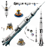 2009PCS Deep Space Rocket Series The Apollo Saturn Building Blocks Space Launch Model Compatible education Toys for children