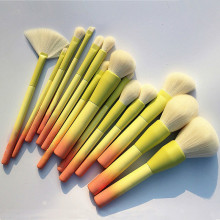 Gradient Color 14pcs Makeup Brushes Set Soft Cosmetic Powder Blending Foundation Eyeshadow Blush Brush Kit Make Up Tools