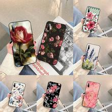 Watercolor plants with flowers Phone Case For Samsung S note S10E 6 7 8 9 10 20 plus edge lite Cover Fundas Coque